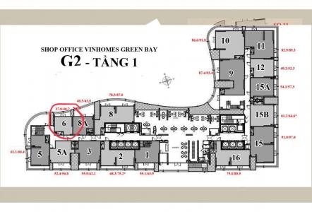 Bán Căn Shop Tầng 1 Vinhomes Green Bay Tọa lạc Số 3 Đại Lộ Thăng Long