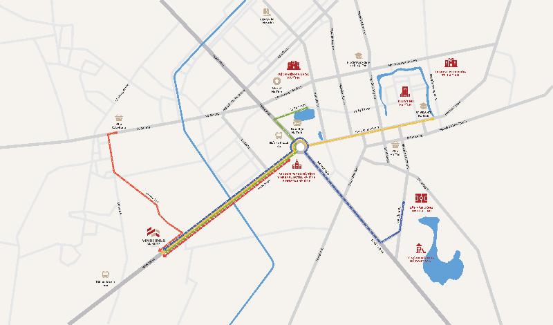 map VINHOMES NEW CENTER