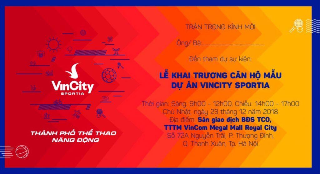 Chính thức khai trương nhà mẫu VinCity Sportia ngày 23/12