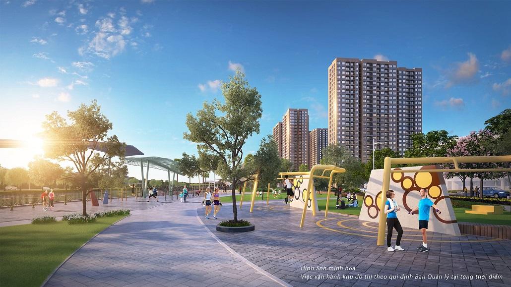 Hệ thống vườn hoa cây xanh và tiểu cảnh khu đô thị VinCity Ocean Park