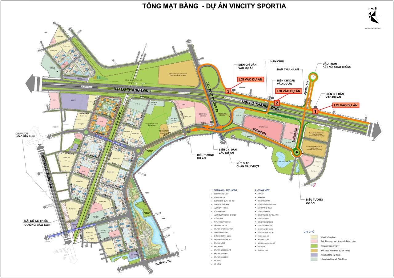 Mặt bằng tổng thể dự án VinCity Sportia Tây Mỗ – Đại Mỗ