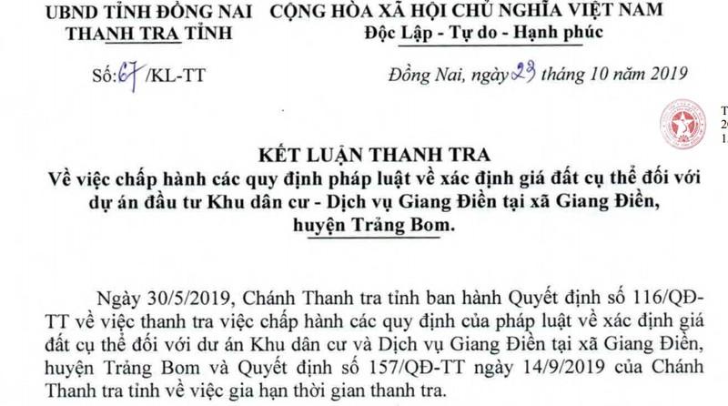 Nhiều thiếu sót trong dự án khu dân cư Giang Điền
