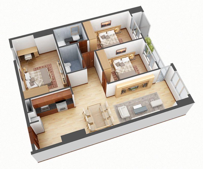 Thông tin căn hộ 3 phòng ngủ chung cư Vincity Ocean Park