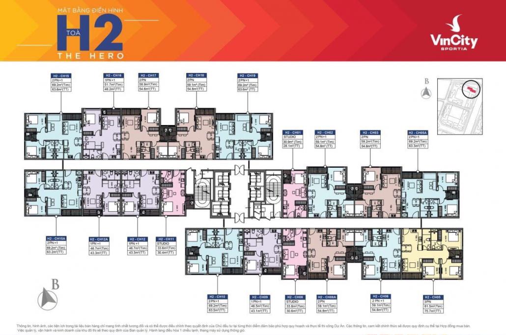 Tòa H2 – VinCity Sportia (Tây Mỗ – Đại Mỗ): Thông tin chi tiết