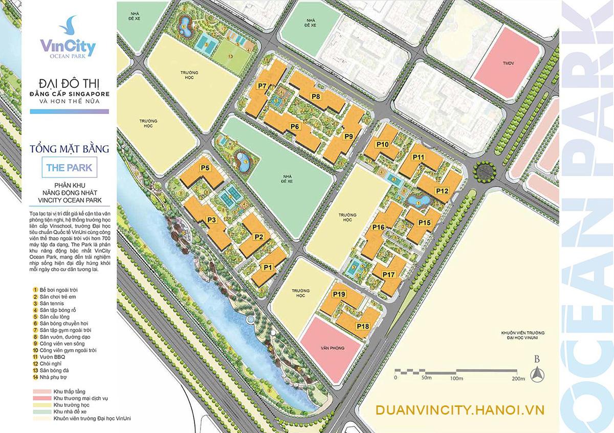 Tòa Park 8 phân khu The Park – VinCity Ocean Park: Tổng quan, vị trí, thiết kế?